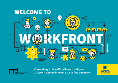 Design for WORKFRONT at Aviva