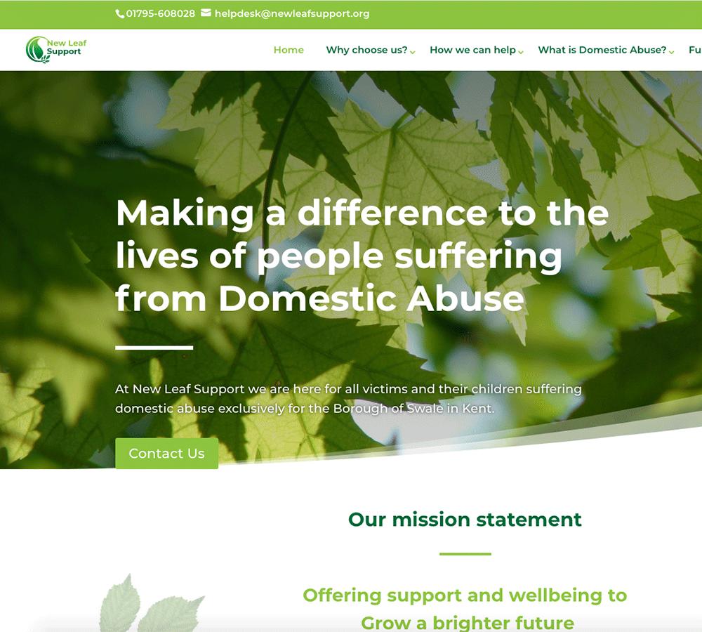 New Leaf Support website
