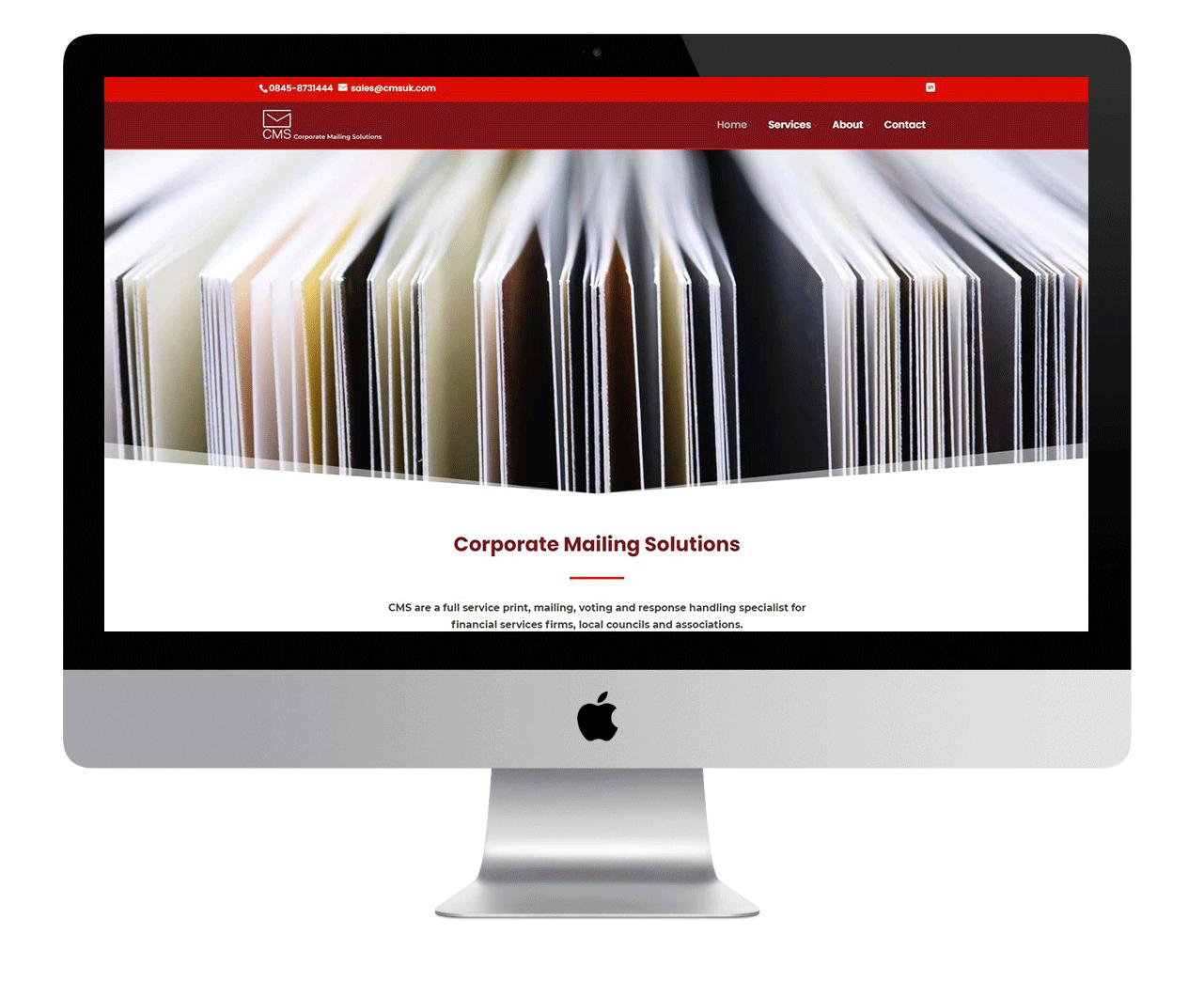CMS homepage