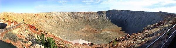 Impact crater in Arizona